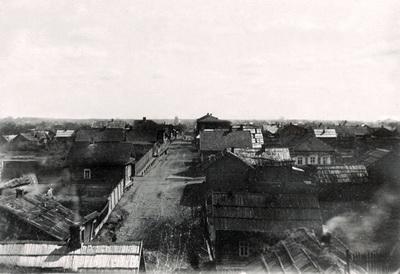 15. Полоцк. Вид городских домов. Фото 1889-1891 годов