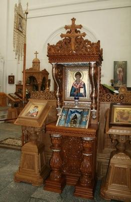 20-Ковчег с тапочком святителя Спиридона Тримифунтского в Полоцком Спасо-Евфросиниевском монастыре